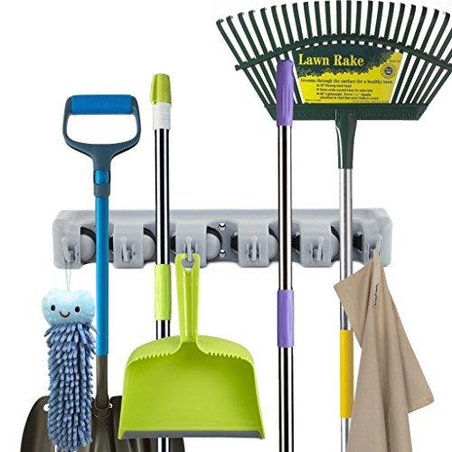 Newdora Gartenwerkzeug Besen Mop Halter, Gerätehalter Wandhalterung