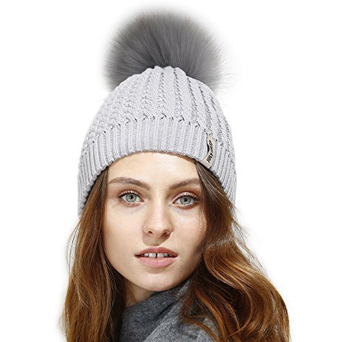 29566319081 JULY SHEEP Womens Girls Winter Crochet Knit Hat Wool Knitted Beanie With  Pom Pom Bobble Ski