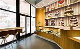 Fototapete Tapeten Wohnzimmer Fototapete Vliesbenutzerdefinierte 3D Wallpaper Delicious Bunte Kuchen Dessert Shop Restaurant Dekoration Hintergrund Wandbild Wandbild, 400 * 280 Cm