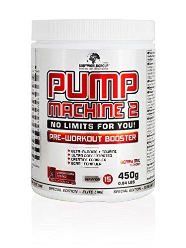 BWG-Pump-Machine-2-Pre-Workout-Booster-Special-Edition-Elite-Line-mit-Dosierlffel-450g-Dose