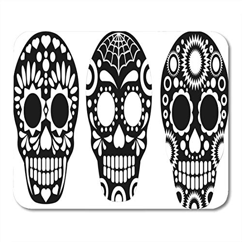 Deglogse Gaming-Mauspad-Matte, Red Dead Black Mexican Sugar Skull Colorful Day Halloween Mouse Pad, Desktop Computers mats (Pic Halloween Lustige)