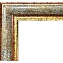 Marco Charleston 92 x 44 cm madera maciza, marci pomposo de alta calidad 44 x 92 cm, color seleccionado: oro turquesa con vidrio acrílico antirreflector 1 mm