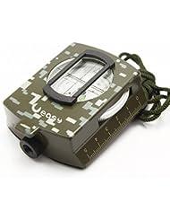 Ejército Militar multifunción profesional Ueasy Metal Brújula alta precisión brújula impermeable, 0.42 pounds, color camouflage