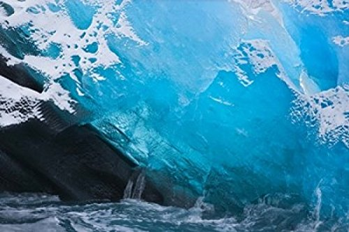 The Poster Corp Jaynes Gallery/DanitaDelimont - South Georgia Island Iris Bay Herz Glacier ice Photo Print (86,36 x 57,58 cm)