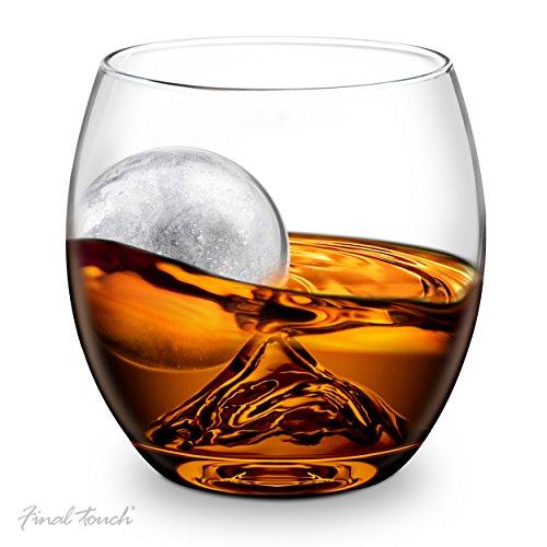 GHI on The Rock, Glas und Eiskugel Set (Real Shot Glas)