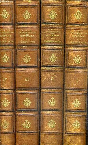 DICTIONNAIRE JURIDIQUE ET PRATIQUE DE LA PROPRIETE BATIE LOIS USAGES COUTUMES JURISPRUDENCE DU BATIMENT ET DU VOISINAGE / EN 4 TOMES - TOMES 1 + 2 + 3 + 4 . par RAVON HENRI & G.COLLET CORBINIERE