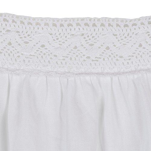 fürThe 1 for U 100% Baumwolle Ärmellos Nachthemd 7 Größen - Jane Weiß