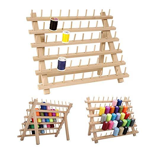 60 Achsen Holz Thread Rack, Spool Sewing Organizer, Holz Thread Schneider Rack, Buchenholz Thread Rack, Spool Lagerung Inhaber 40 32CM (Thread-inhaber)