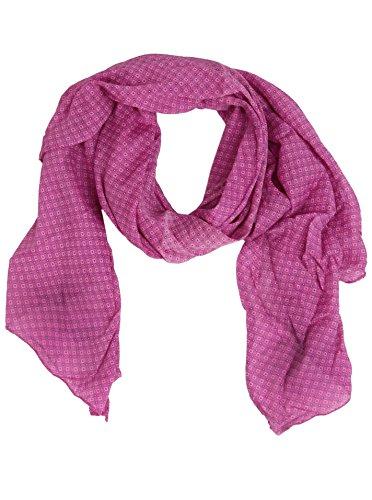 -Tuch Damen dezentes Muster - Made in Italy - Eleganter Sommer-Schal für Frauen - Hochwertiges Seidentuch/Seidenschal - Halstuch und Chiffon-Stola stilvolles Muster pink ()