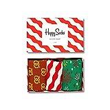 Happy Socks Geschenkbox HAPPY HOLIDAYS XMAS08-4001 Grün Weiß Rot, Size:41-46