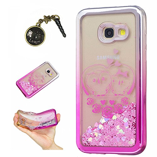 Preisvergleich Produktbild Laoke für Samsung Galaxy A3 (2017) Hülle Schutzhülle Handy TPU Silikon Hülle Case Cover Durchsichtig Gel Tasche Bumper ( + Stöpsel Staubschutz) (6)