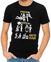 Idea Regalo - IMAGE T-Shirt Addio al Celibato Divertente Game Over 1 SPOSI - Matrimonio - by Uomo-M-Nera