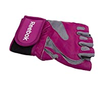 Reebok Fitness Gym & Fitness Gloves (Small, Pink/Grey)
