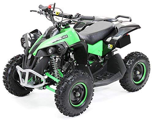 Actionbikes Motors Mini Kinder Elektro Quad ATV RENEBLADE 49cc 2-Takt Pocket Quad - Original Easy Pull Starter - Notaus Leine - Kinder Pocketquad (Schwarz/Grün)