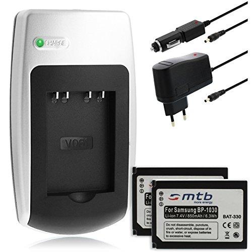 2x Batterie + Caricabatteria per Samsung ED-BP1030 / BP1130 - Vedi list
