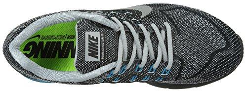 Nike Zoom Structure 18, Chaussures de course homme Gris - Grau (Wlf grey/mtllc slvr-bl lgn-blk 002)