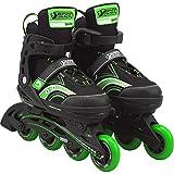 Best Sporting Inline Skates Größe verstellbar, ABEC 5 Carbon grün, Farbe:grün/schwarz, Größe:35-40
