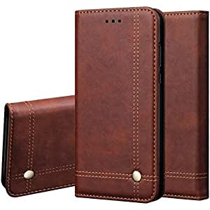 Pikkme Samsung Galaxy M30s / M21 Leather Flip Cover Wallet Case (Samsung Galaxy M30s / M21, Brown)