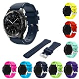Tabcover® 8 Colors Gear S3 Frontier Classic Smart Watch Armband, 22mm Soft Silicone Sports Replacement Strap for Samsung Gear S3 Frontier Classic