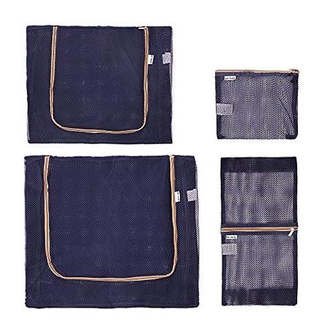 OW-TRAVEL, Organiseur de bagage , bleu (bleu) - Blue Mesh S, M. L and XL