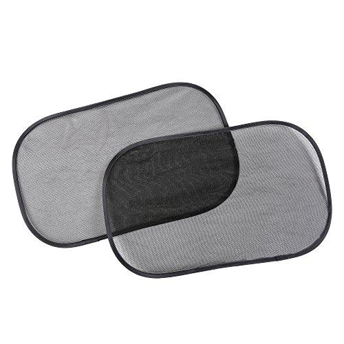 Auto-Sonnenschutz FLURYSAR® - selbsthaftender Kinder Sonnenschutz für Autofenster (2 Stück 31x 51cm), schützt Kinder und Haustiere vor UV Strahlen und Hitze