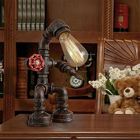 Modylee Robot Edison industriale tubo di luce retrò personalità caffè decorazione della barra lampada creativa (Filigrana Pendente Di Montaggio)