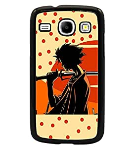 PrintDhaba Sword Girl D-5633 Back Case Cover for SAMSUNG GALAXY CORE i8262 (Multi-Coloured)