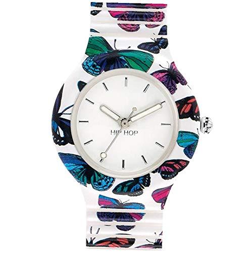 Hip Hop Watches HWU0675 Orologio da Donna Hip Hop Butterfly, Collezione Animals Addicted, Cinturino...