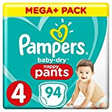 Pampers Baby Dry Pants Gr.4 Maxi 9-15kg Mega Plus Pack