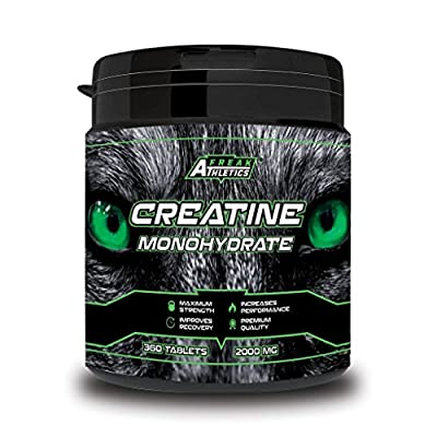 Creatine Monohydrate - 360 x Creatine Tablets - Premium Grade Micronised Creatine Monohydrate Tablets - Scientifically Proven To Increase Strength, Explosive Performance and Lean Body Mass - UK MADE by Freak Athletics
