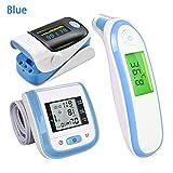 Lamptti Digital Health Care Elektronisches Infrarot-Thermometer - Finger-Pulsoximeter Fingerspitzen-Pulsoximeter Handgelenk-Blutdruckmessgerät Fingerspitzen-Sauerstoffmonitor-Set