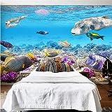 Fushoulu Hd Unterwasserwelt Marine Organism 3D Stereo Wandgemälde Tapete Aquarium Kinder Schlafzimmer Innentapete3D-350X250Cm