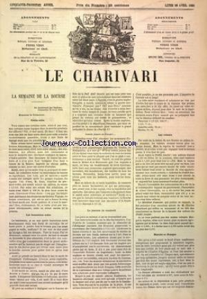 CHARIVARI (LE) du 28/04/1884