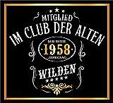 3 St. Aufkleber Original RAHMENLOS® Design: Selbstklebendes Flaschen-Etikett zum 60. Geburtstag: Mitglied im Club der alten Wilden