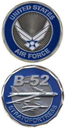 Eagle Crest United States Military US-Luftwaffe B-52 Bomber Plain Stratofortres - Good Luck Double Sided Sammler Challenge-Zinn-Münze Plain Zinn