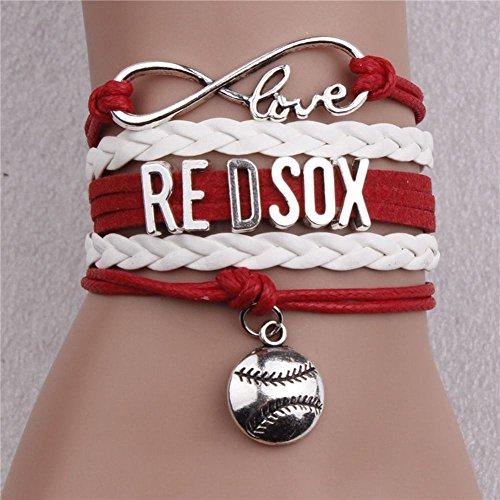 WEI Armband MLBbaseball Team Series Kreative Multi-Layer Woven Armbänder Fans Geschenke,Red Sox,Einheitsgröße (Fußball-sox)