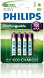 4 x Philips AAA Rechargeable Batteries 700mAh - For BT Freestyle 610 650 710 750