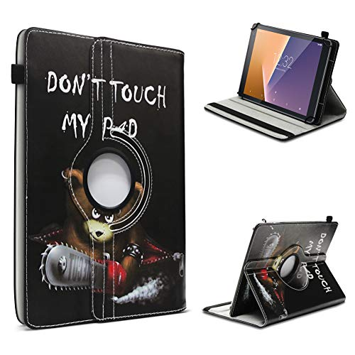 UC-Express Vodafone Tab Prime 6/7 robuste Tablet Schutz Hülle aus hochwertigem Kunstleder Tasche mit Standfunktion 360° drehbar Universal Cover Case kombiniert Schutz und Design, Farben:Motiv 12