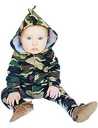 Covermason Bebé Unisex Lindo Impresión Sudaderas con capucha Mono Cremallera Bodies