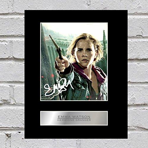 Emma Watson firmado foto enmarcada Hermione Granger Harry Potter