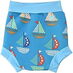 Splash About Happy Nappy, Pañal de natación para Bebé, Multicolor (Set Sail), Small (0-4 Meses)