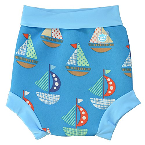 Splash About Happy Nappy, Pañal de natación para Bebé, Multicolor (Set Sail),...