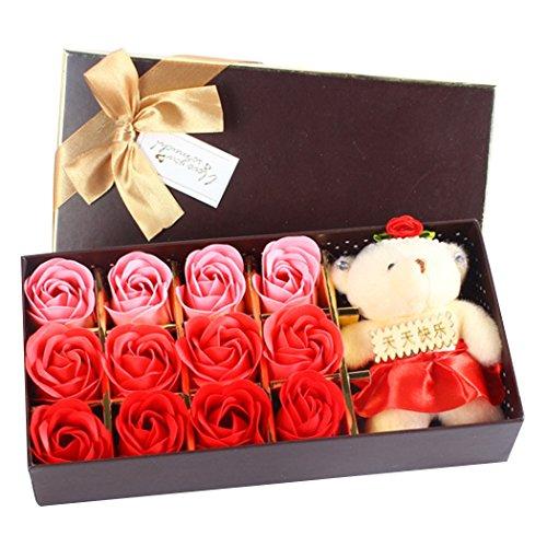 Seifenblume, Fascigirl 12 StüCk Soap Blumengeschenk mit Spielzeug BäR KüNstliche Seife Rose Flower MüTter Tag Geschenk