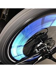 kalaixing® Fahrrad Rad Speichen Reflektor Clips, reflektierende Mount Clip Tube Warnung Streifen, Speichen Fahrrad Vorsicht Decals 12Clip Tube Reflektierende Rad Streifen stickers-blue