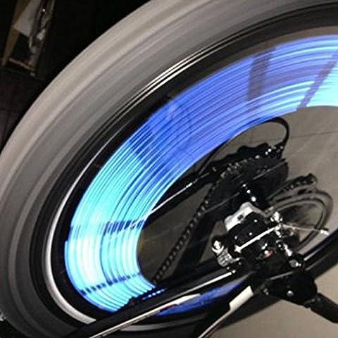 KaLaiXing® - Clip riflettenti per raggi ruota, 12pezzi, con adesivi a striscia, colore: blu