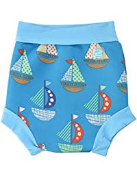 Splash About Happy Nappy, Pañal de natación para Bebé, Multicolor (Set Sail), X Large (12-24 Meses)