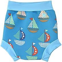 Splash About Happy Nappy, Pañal de natación para Bebé, Multicolor (Set Sail), X Large (12-24 Meses)