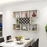 Global- Weiß Ahorn Farbe Kreative Wandbehang Weinschrank Weinregal Wandregal Küche Restaurant Weinkühler Trennwand Wohnzimmer Ständer (Größe : 140cm)