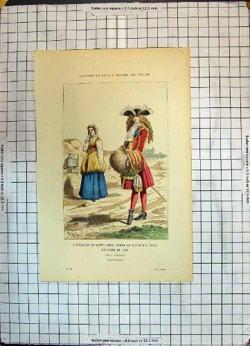 Antike Kostüme Paris FarbDruck-Ritter-Saint Louis Regne Des Louis (Louis 14 Kostüm)