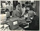 Vintage Photos 1989 Press Photo Glendale'S Nicolet High School, James Liska, and Students